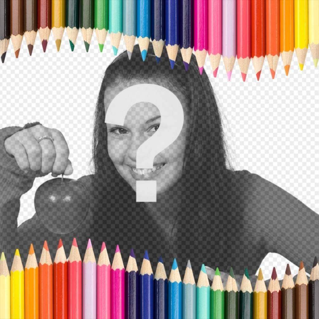Foto Rahmen aus mit Buntstiften, ideal für Kinder
