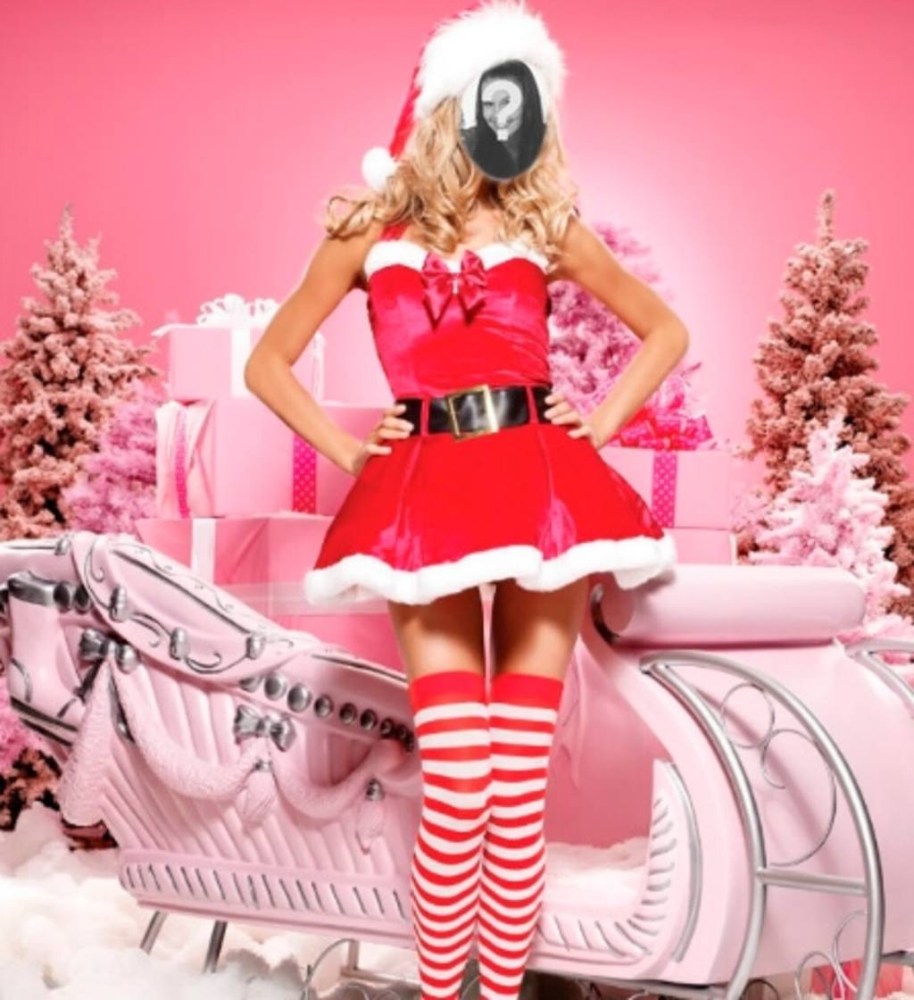 Fotomontage von Mama Noel online zu tun