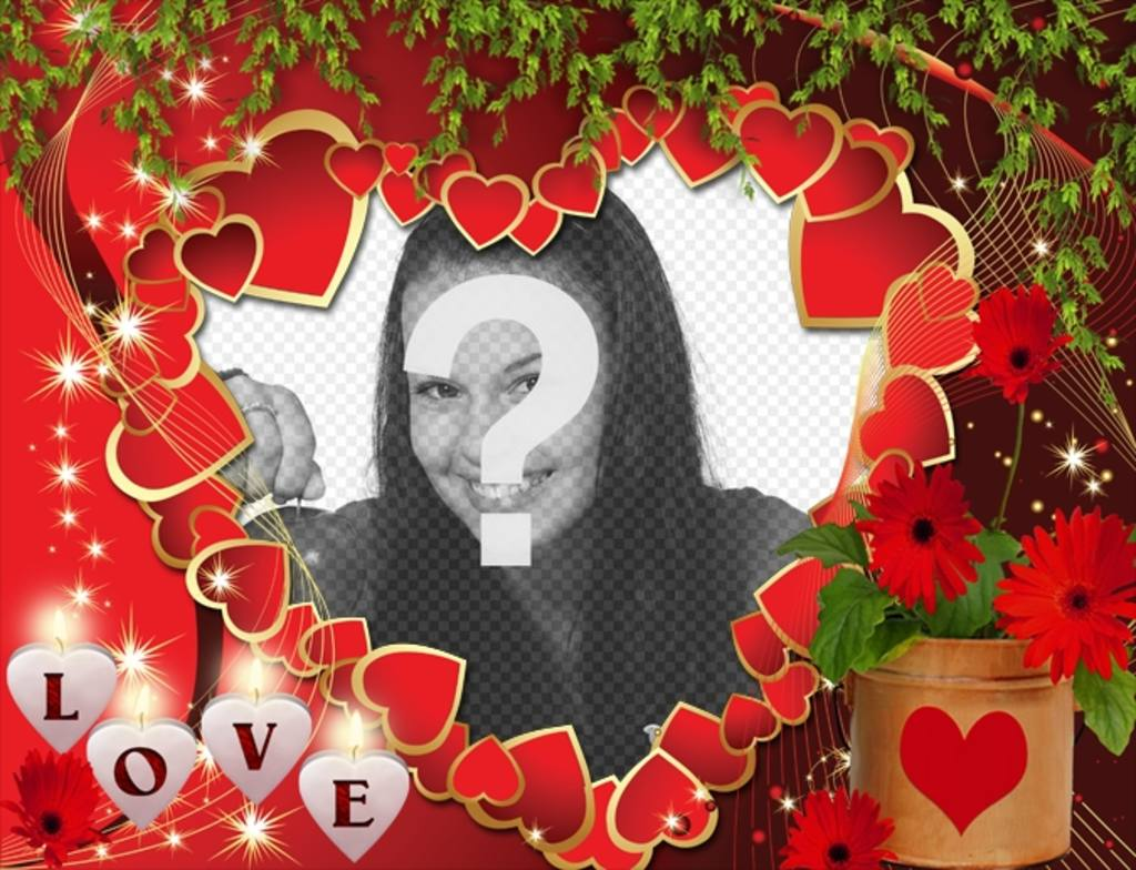 Postkarte Liebe mit vielen Herzen und Liebe Text