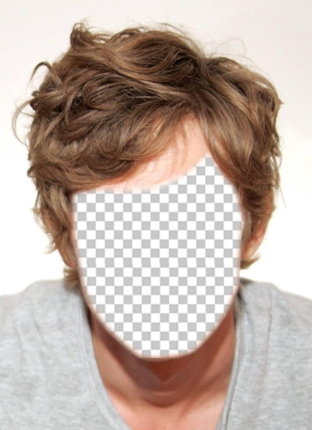 Freie Fotomontage für Männer und die Haare blond