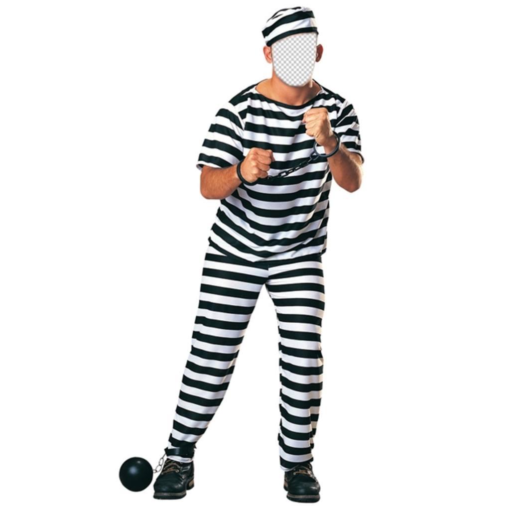 Kostüm eines Gefangenen mit Ketten Ihr Foto online bearbeiten