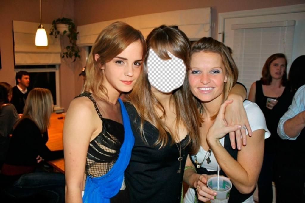 Erstellen Sie eine Foto-Montage mit Emma Watson, Harry Potter, mit Ihrem Foto auf die schöne Schauspielerin von Harry Potter, Emma Watson mit diesem Online-Effekt