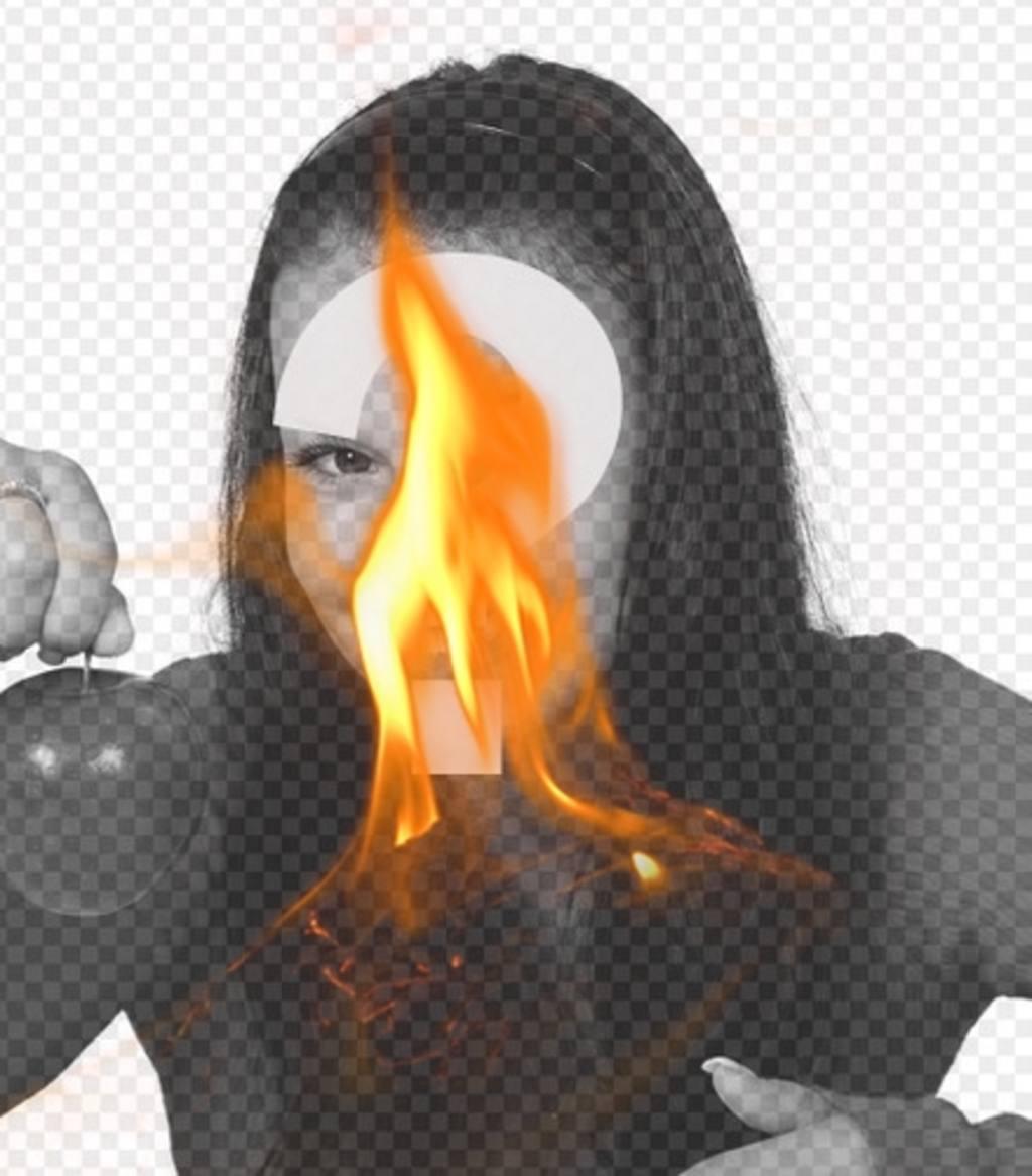 Fotomontage mit einem Filter mit einer gelben Flamme des Feuers zu setzen Sie Ihre Fotos und erstellen Sie unglaubliche Effekte
