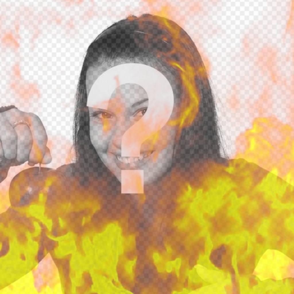 Photo Filter zu simulieren ein Bild in Flammen des Feuers