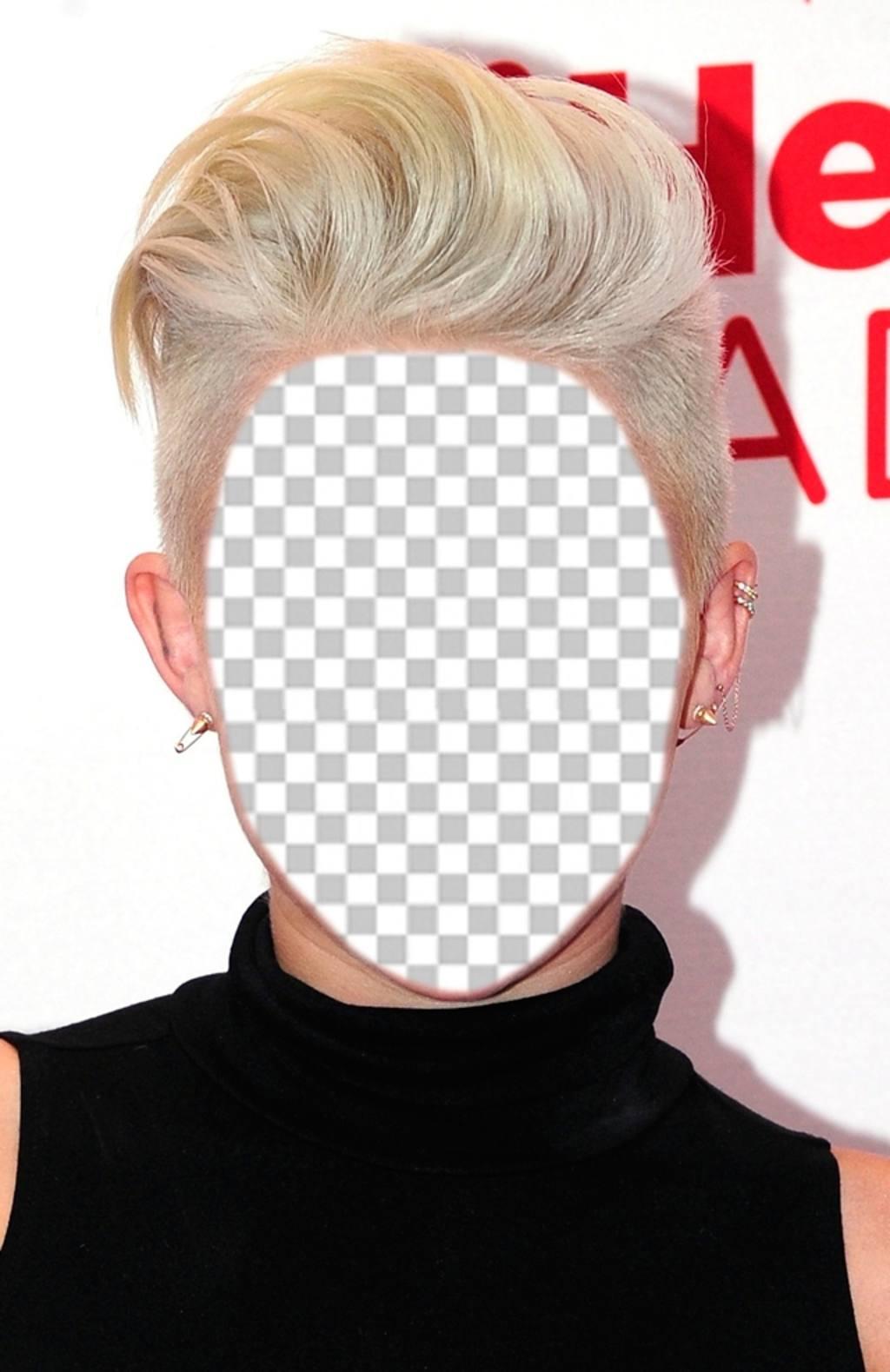Fotomontage die Frisur von Miley Cyrus zu haben und kostenlos