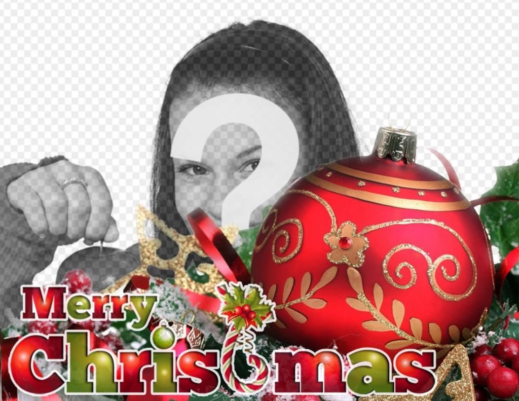 weihnachten postkarte mit roten kugel und ornamente mit. Black Bedroom Furniture Sets. Home Design Ideas