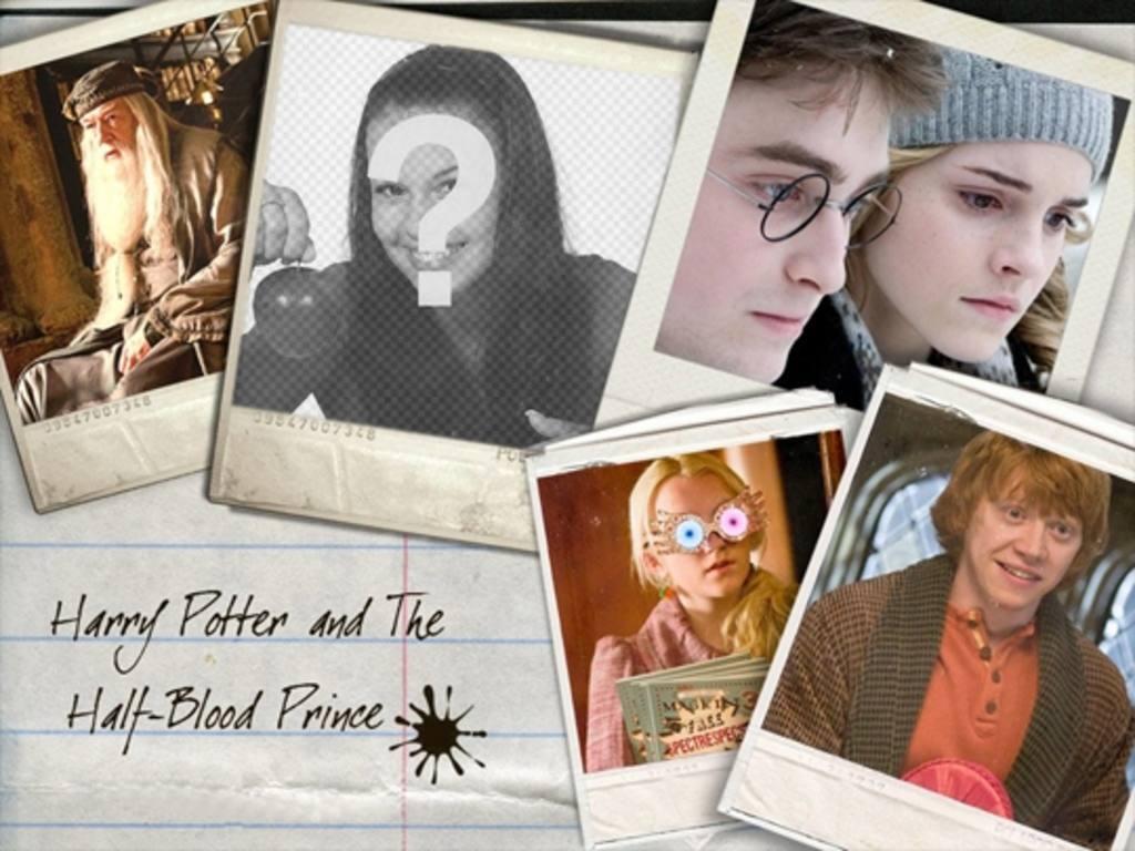 Setzen Sie Ihr Bild neben den Protagonisten des Films Harry Potter: Hermine Granger, Ron Weasley
