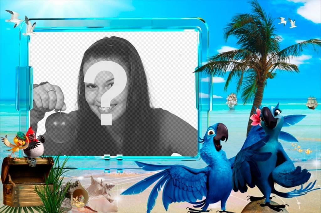 Sommer-Fotomontage, um das Foto an einem Strand setzen
