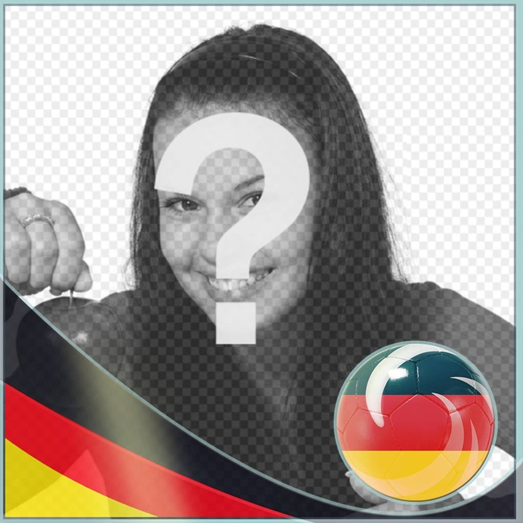 fotorahmen mit der flagge von deutschland nach in ihren fotos setzen photoeffekte. Black Bedroom Furniture Sets. Home Design Ideas