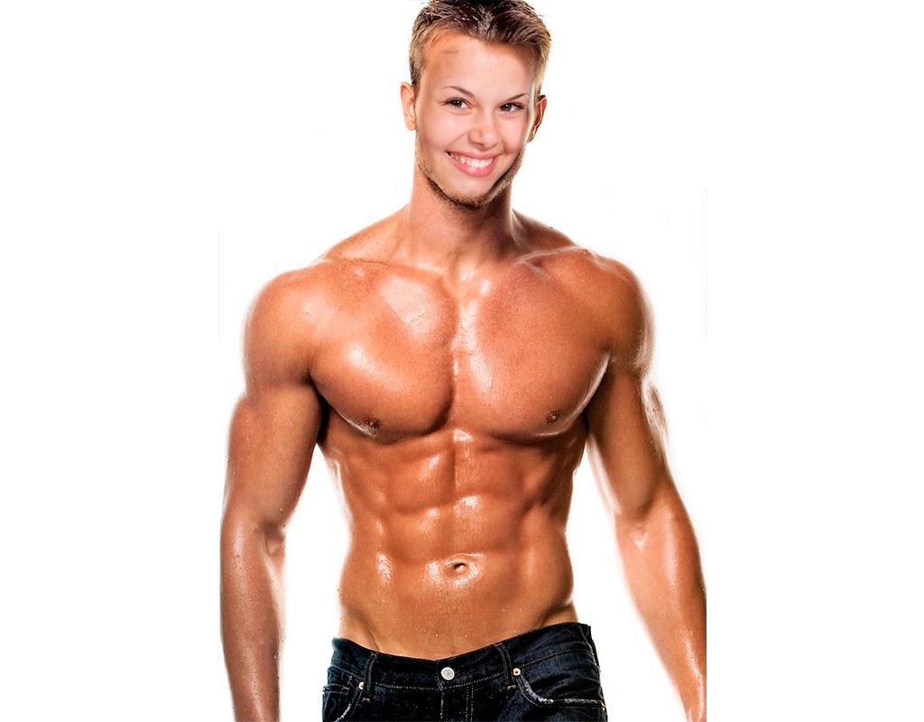 Fotomontage eines muskulösen Mannes mit Ihrem Gesicht