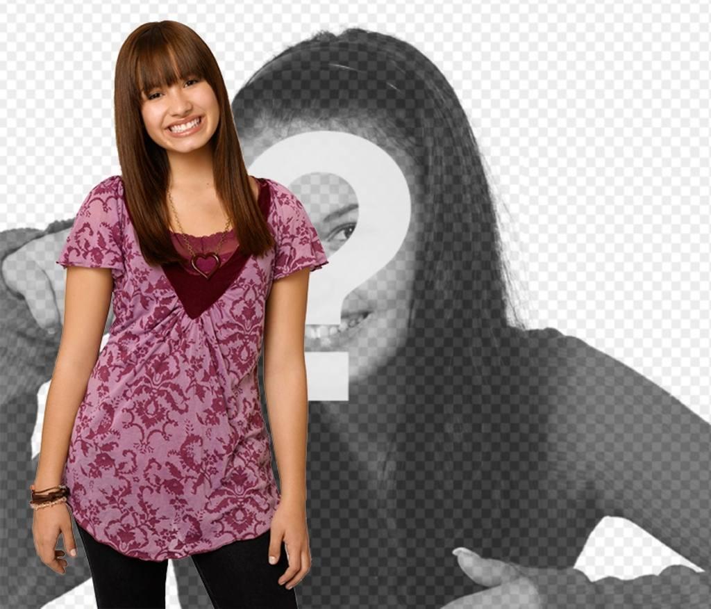 Fotomontage mit Demi Lovato in Camp Rock 2. Posa