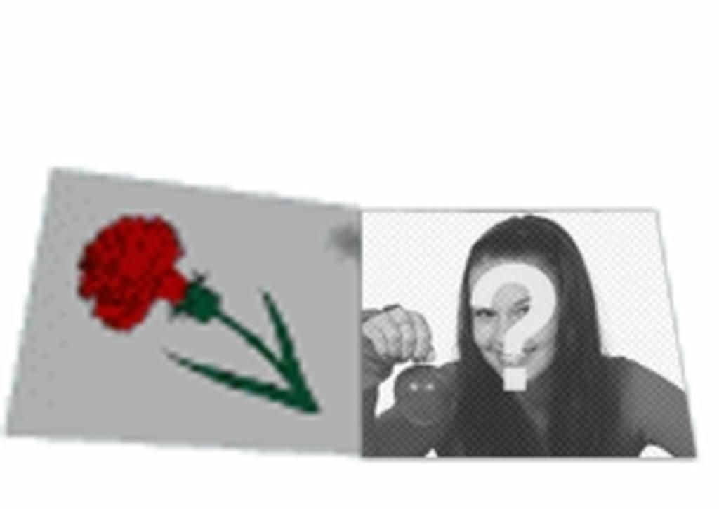 Benutzerdefinierte Animation animierte Liebesbrief mit einer Rose. Mit Ihrem Foto