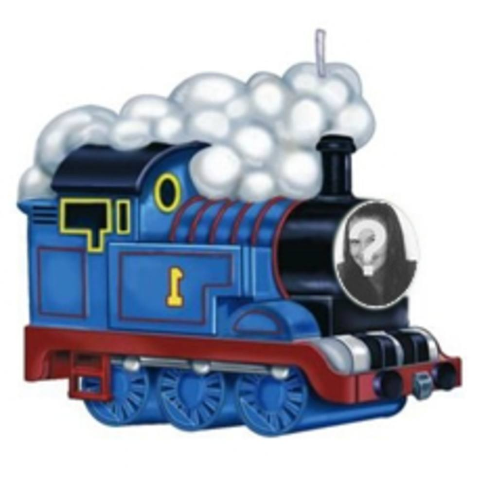 Animation der Zug Thomas, um das Foto legen