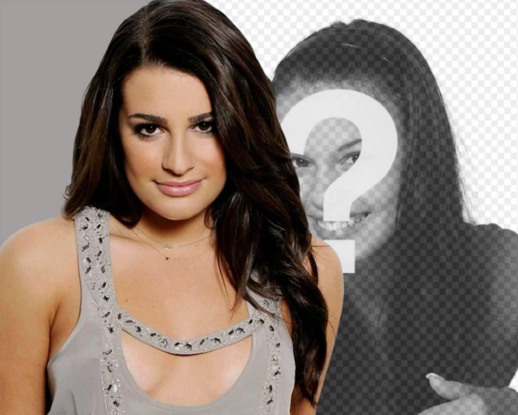 Fotomontage mit Lea Michelle, Glee-Schauspielerin