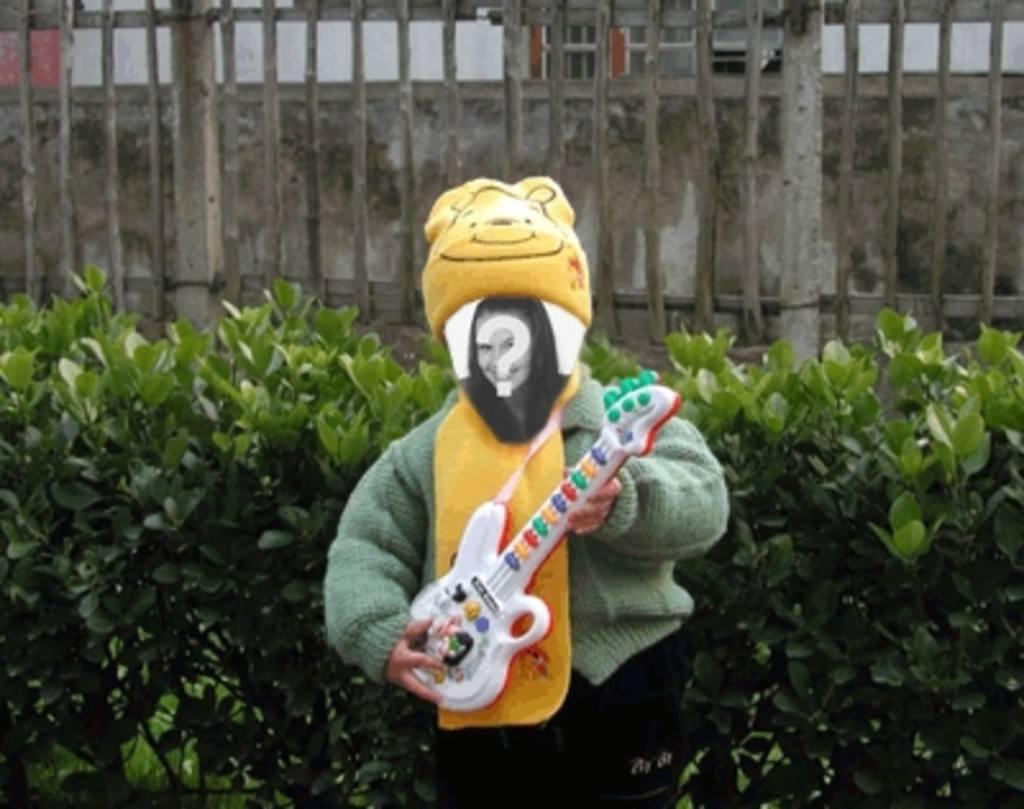 Lustige Animationen, um Ihren dollbild Gitarre zu spielen