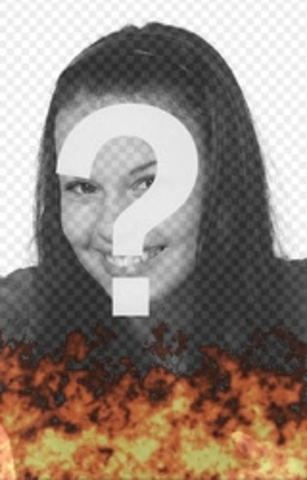 Animation einer Beteiligung zu Ihrem Foto Hintergrund gestellt. Wirkung von brennenden Foto