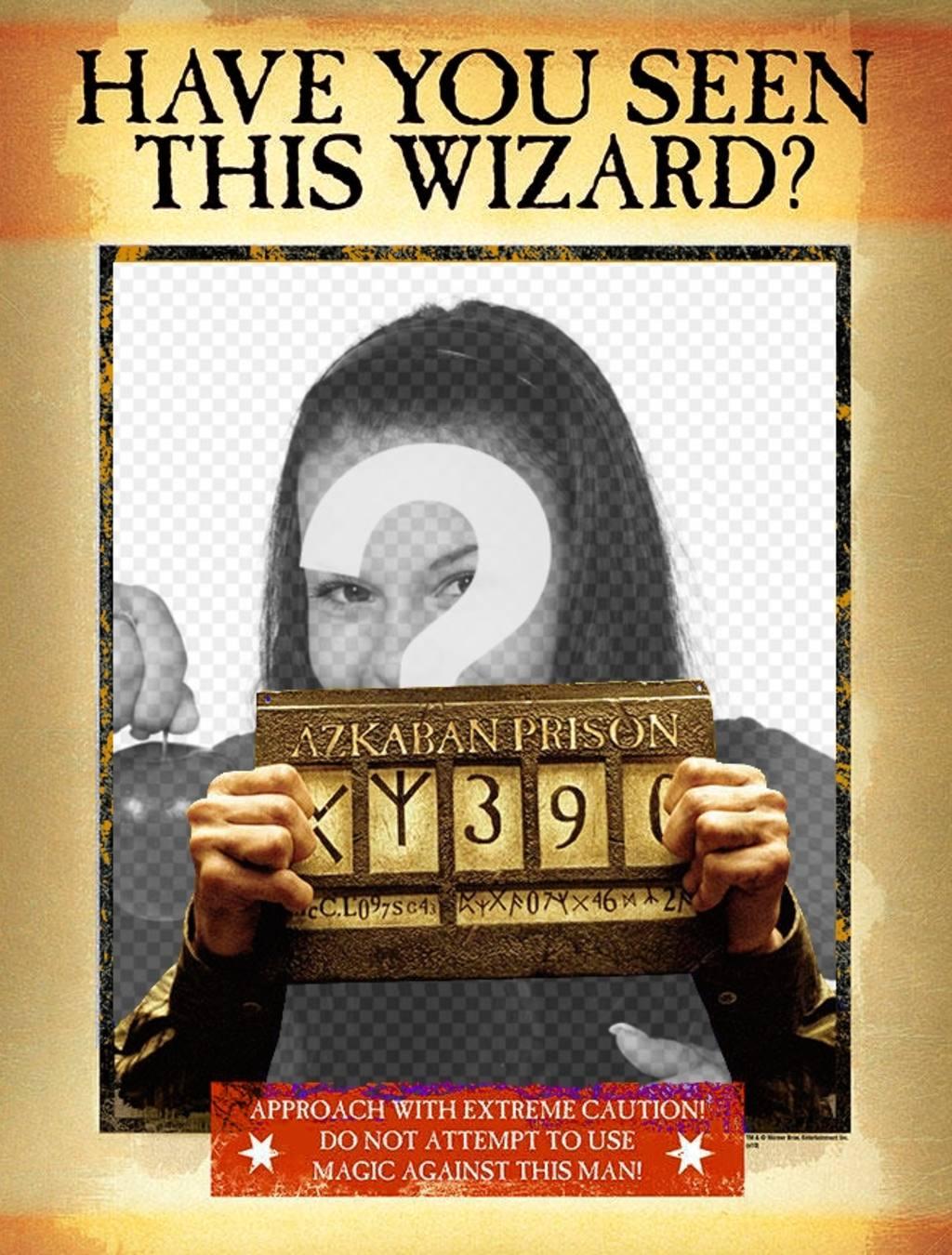 Montage ein Plakat für seine Festnahme Zauberer-Version
