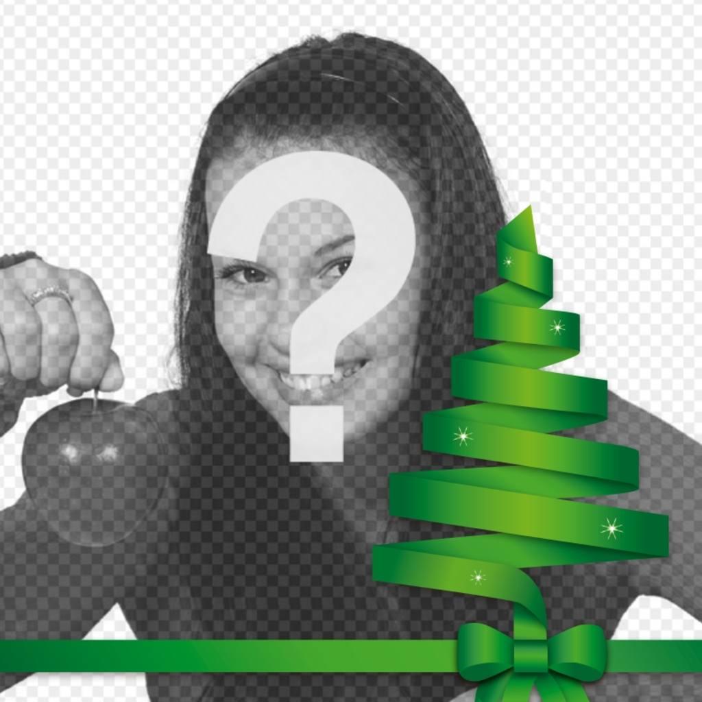Weihnachtsbaum Vektor, um das Foto zu schmücken