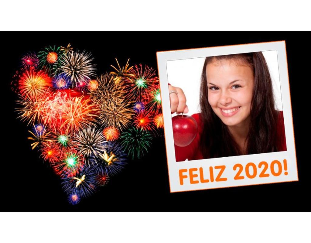 Feld für Fotos des neuen Jahres 2018 mit einem Polaroid