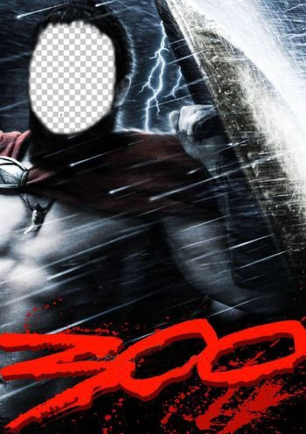 Fotomontage Teil der Gladiatoren Filmplakat 300