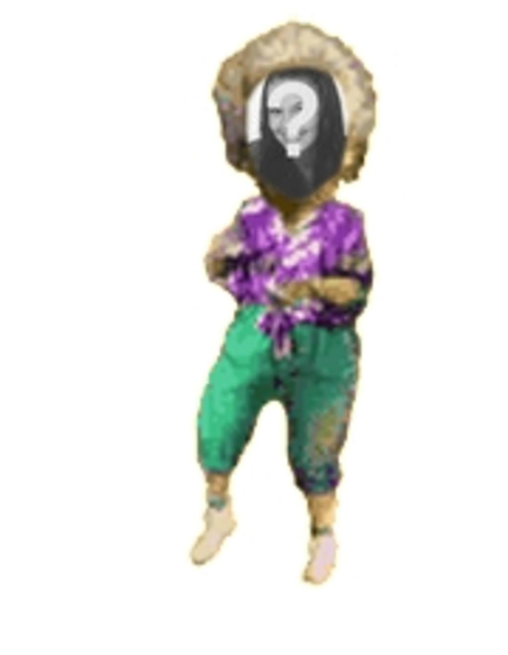 Animation der älteren Frau tanzt mit Ihrem Foto personalisiert
