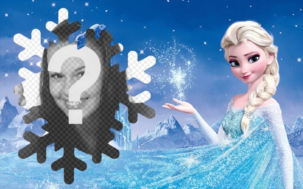 Fotomontage mit Elsa von Die Eiskönigin