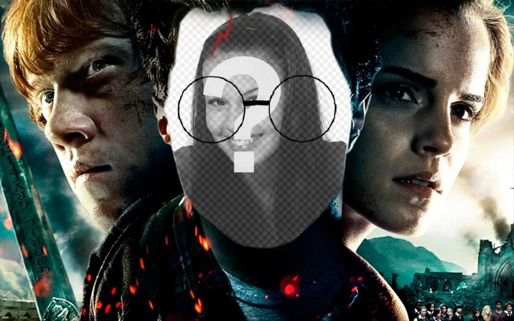 Fotomontage mit dem Gesicht von Harry Potter