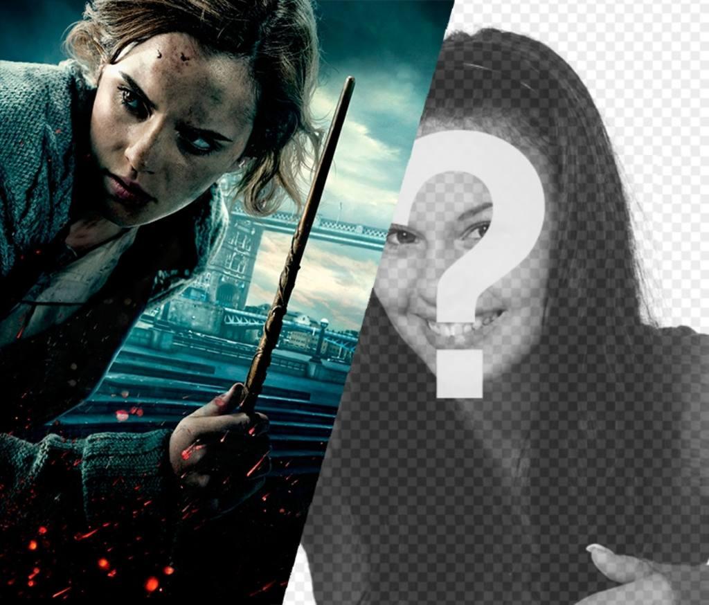 Fotomontage mit Hermine von Harry-Potter-Filme