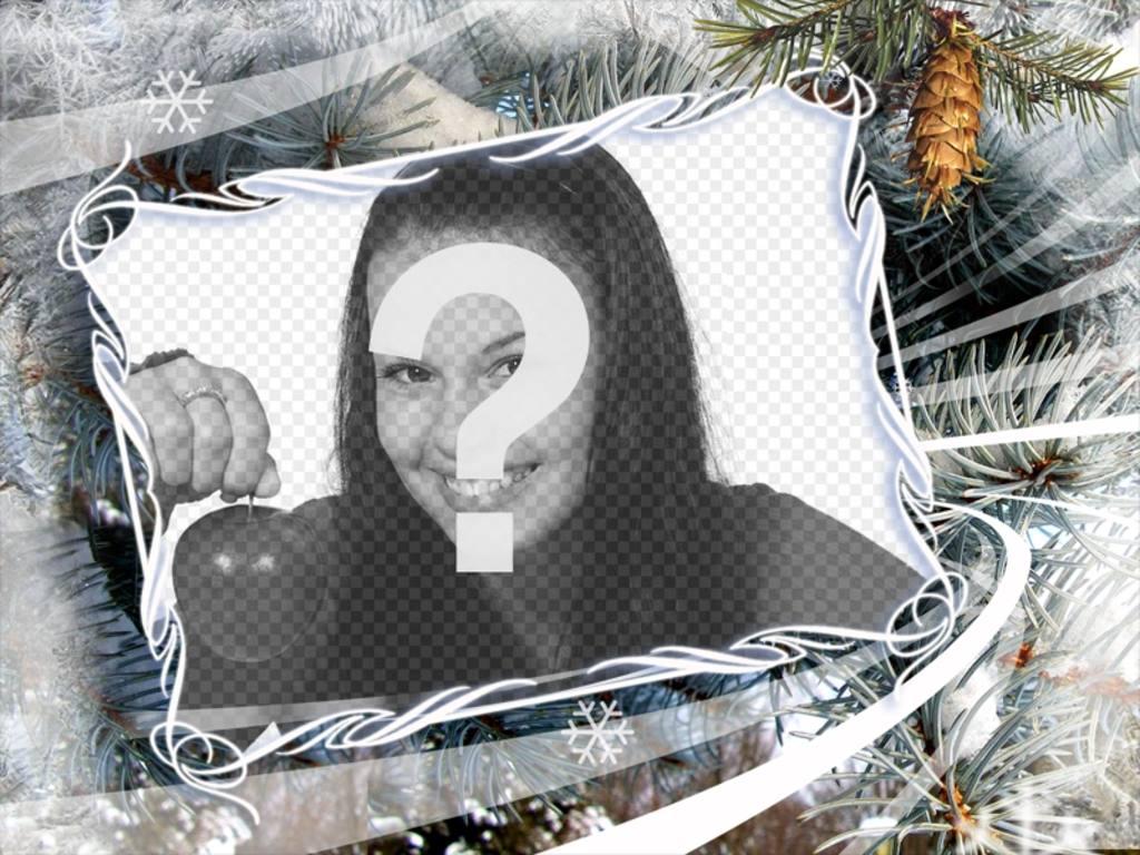 Fotorahmen mit Wintermotive und Weihnachten - Photoeffekte