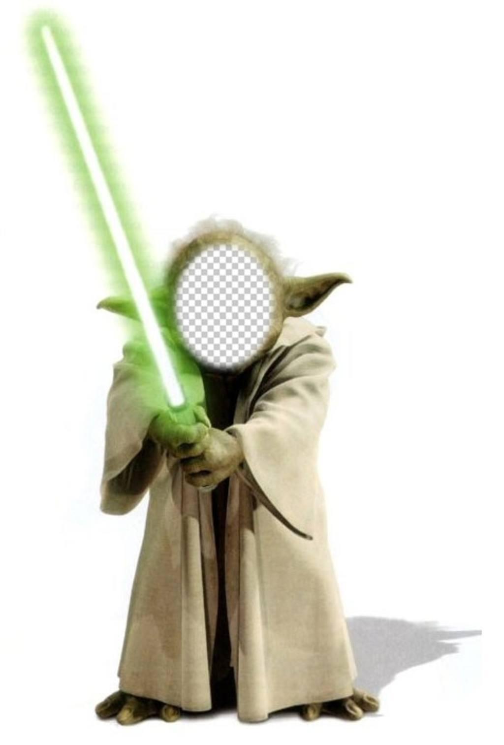 Vorlage der Fotomontage von Yoda aus Star Wars Ihr Gesicht hinzufügen zu den neugierigen Charakter Yoda