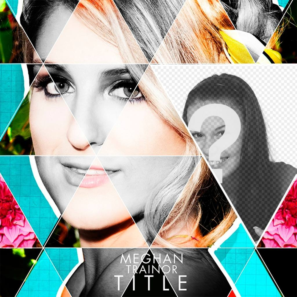 Fotomontage mit CD-Cover Meghan Trainor