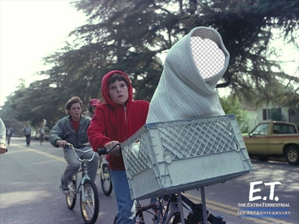 Fotomontage von ET Ihr Gesicht auf dem Alien zu setzen