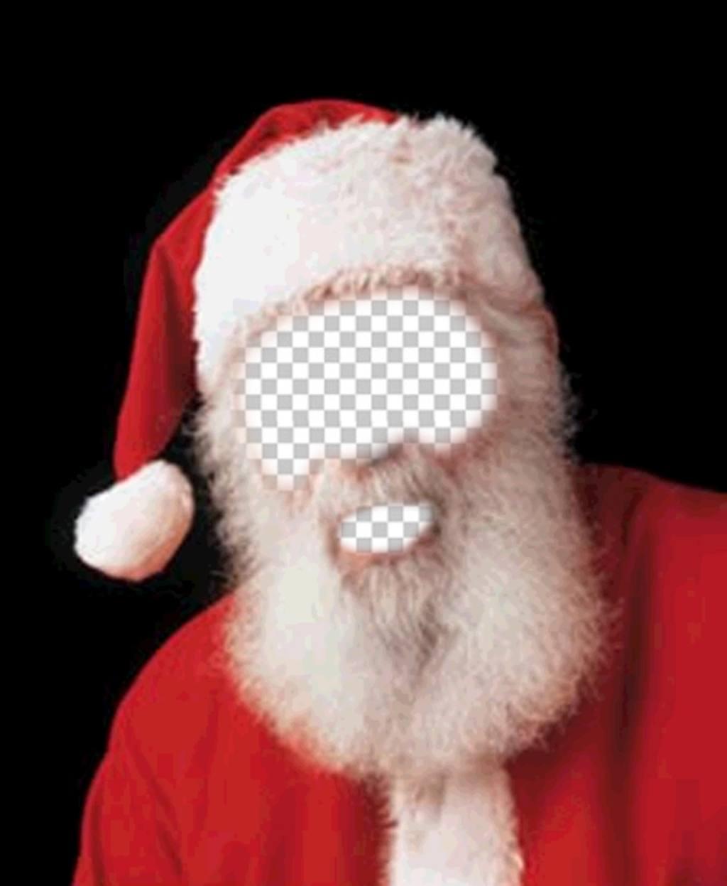 Fotomontage des Weihnachtsmann-Kostüm für Weihnachten