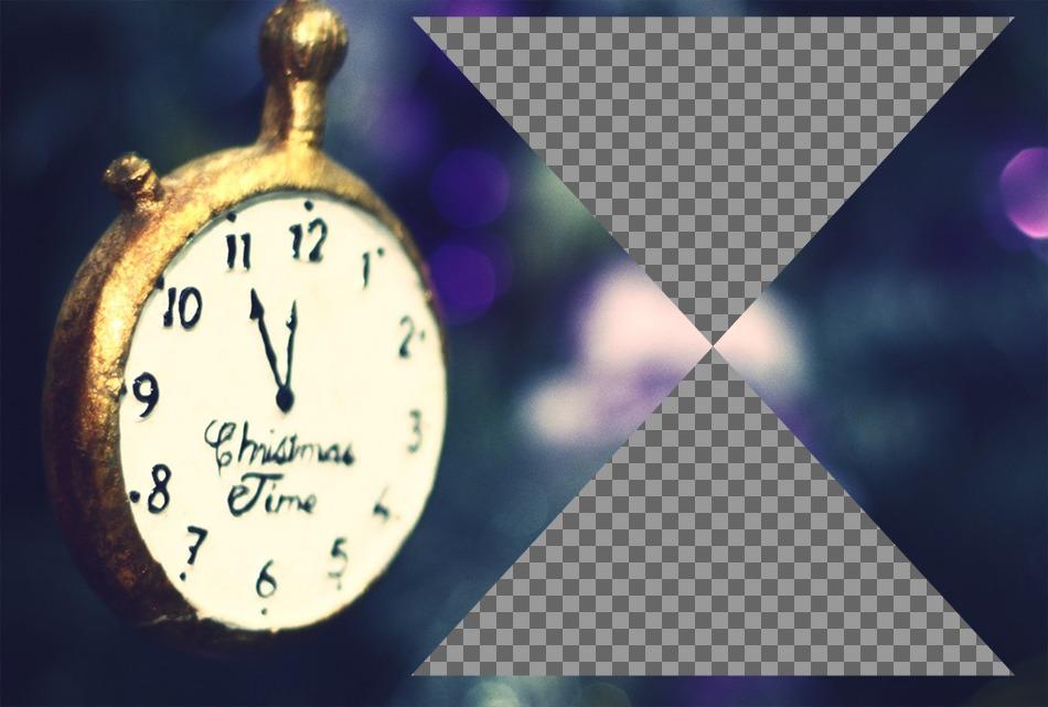 Weihnachtsbilder Mit Text.Collage Für Zwei Weihnachtsbilder Mit Einer Alten Uhr Photoeffekte
