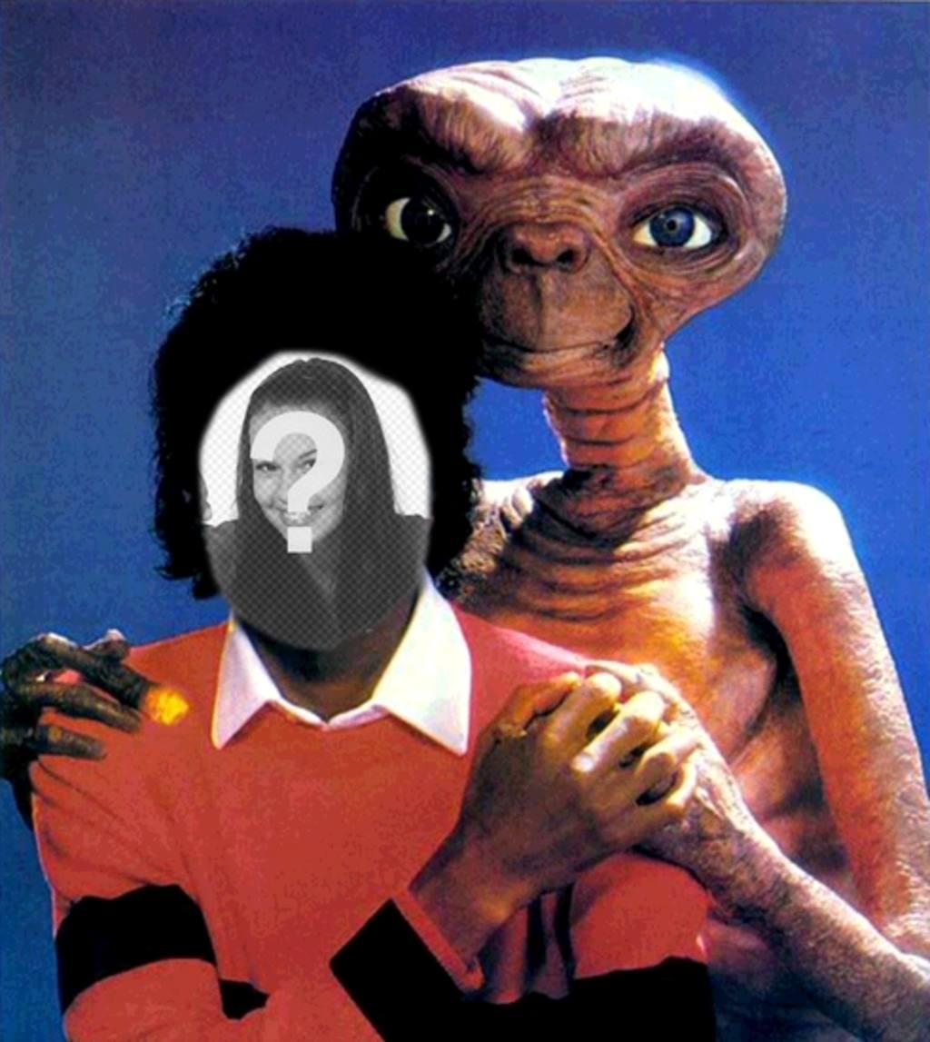 Michael Jackson mit ET, Michael Jackson Montage von Ihrem Foto