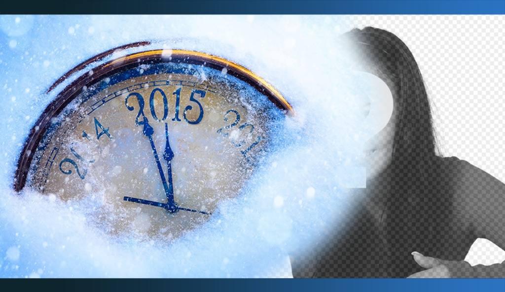Spezielle Silvester 2015 Fotomontage