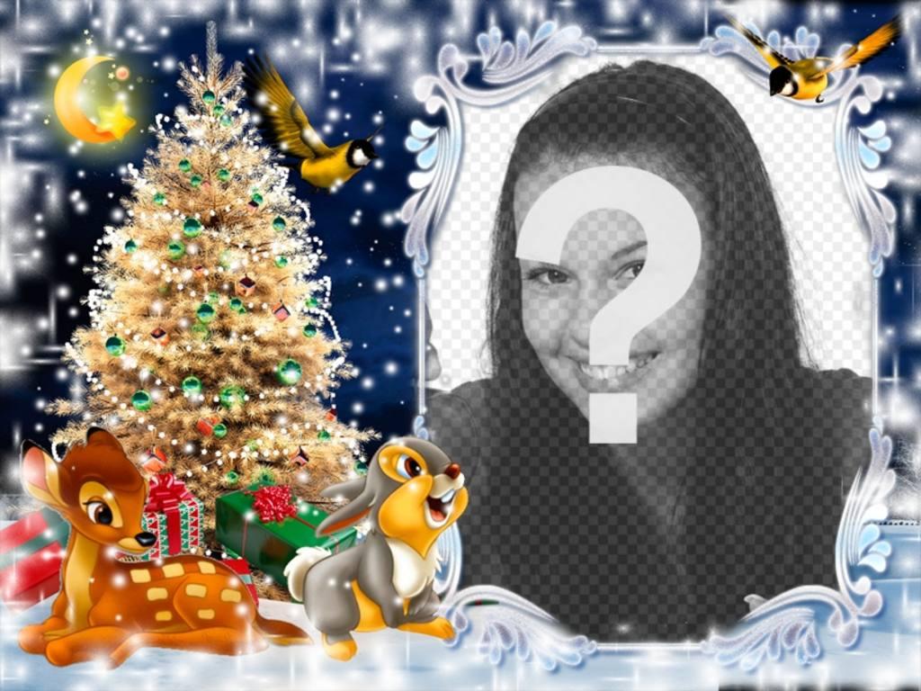 Weihnachtspostkarte für die Umsetzung Ihrer Bild mit Bambi