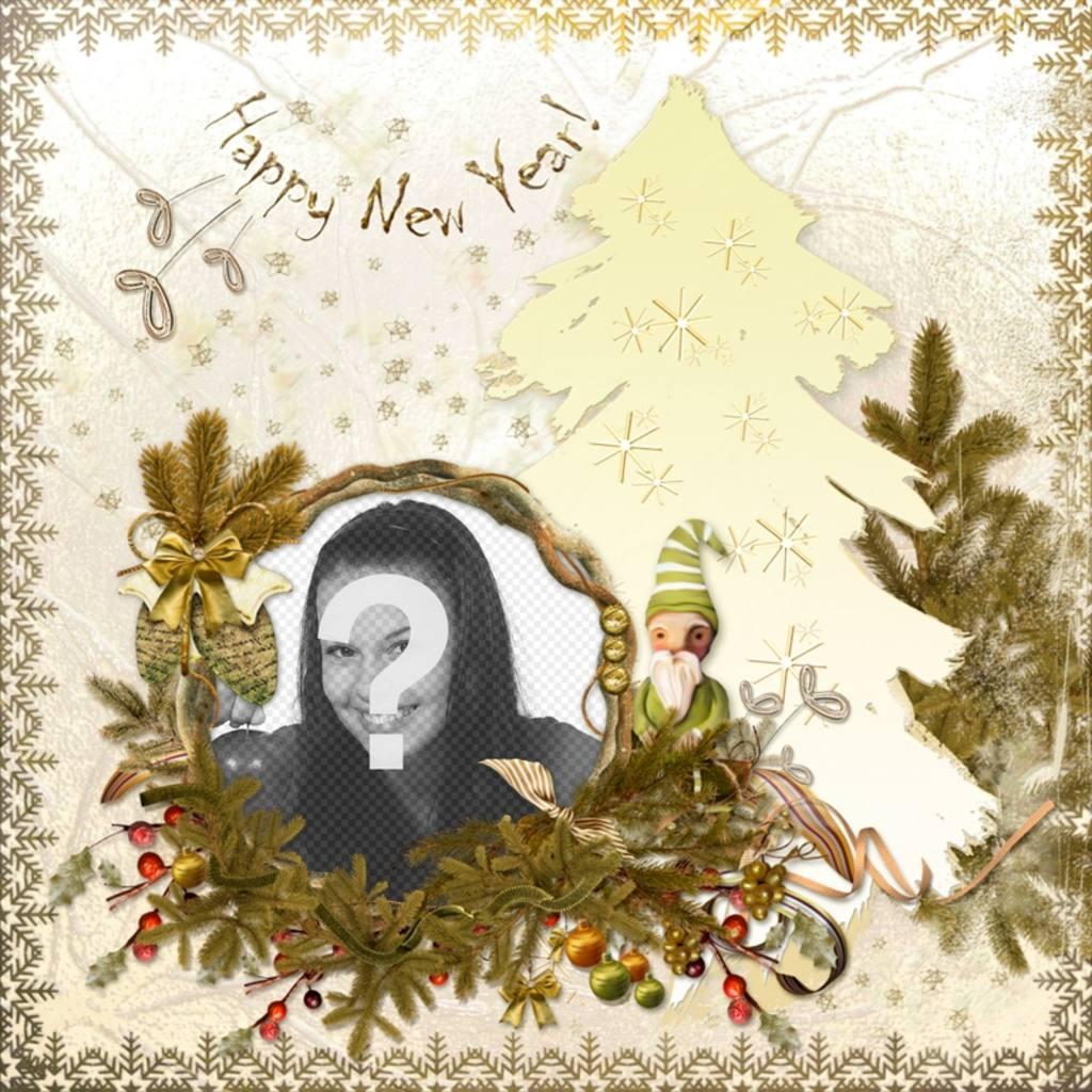 Classic-Karte zu bearbeiten und den Text ein frohes neues Jahr