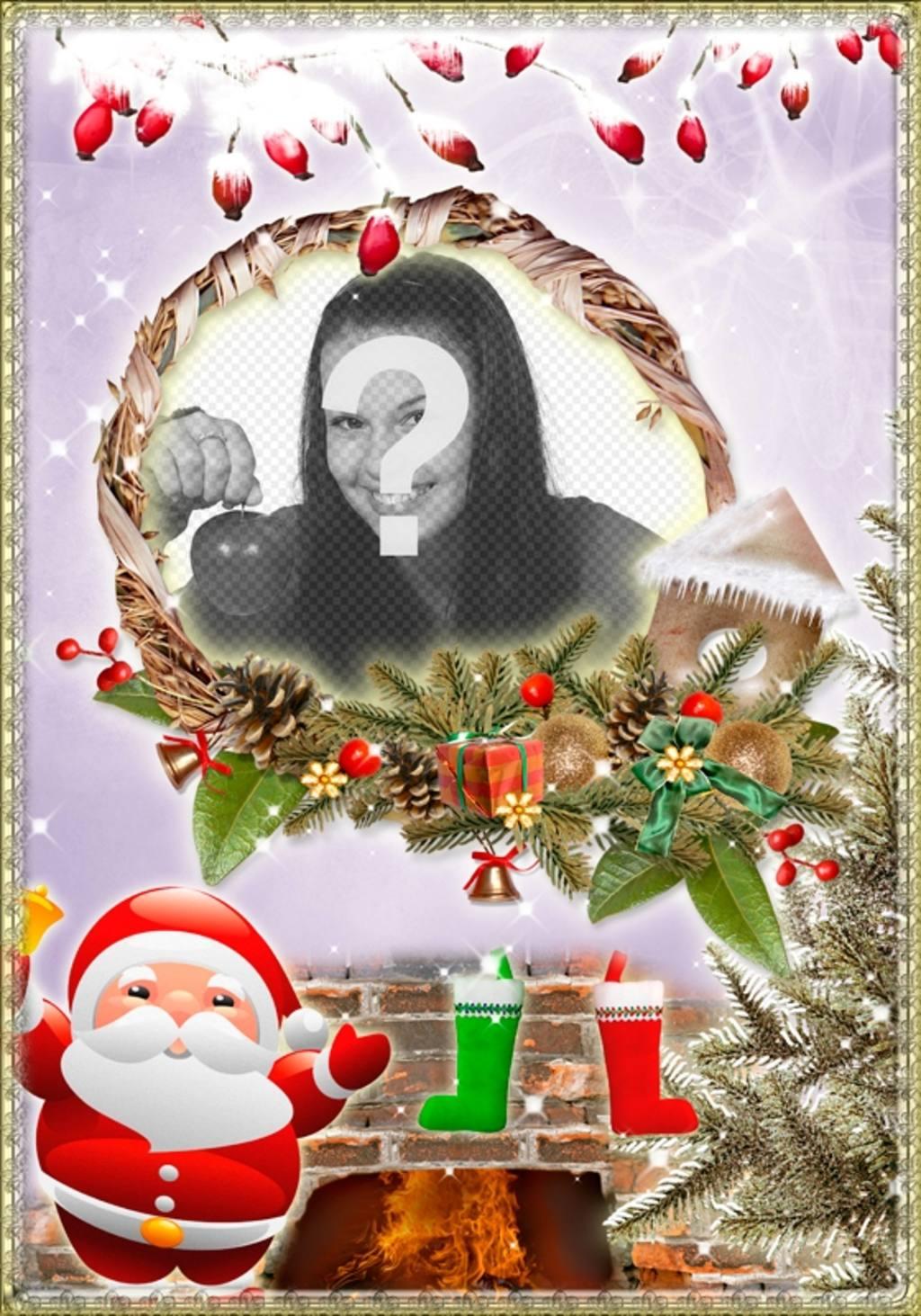 Weihnachtskarte zu widmen mit einem Foto