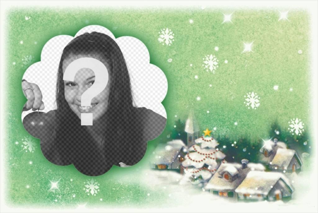 postkarte zu weihnachten mit schneebedeckten weihnachten. Black Bedroom Furniture Sets. Home Design Ideas