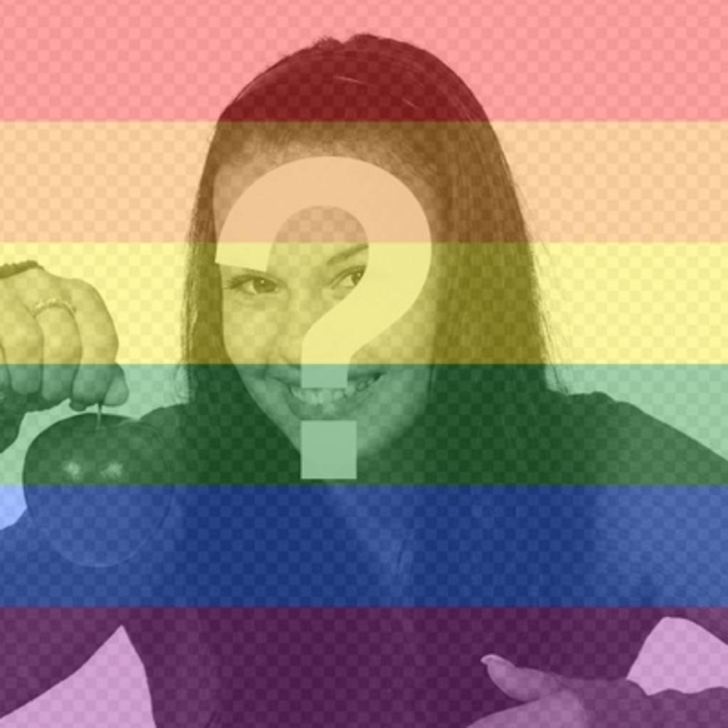 Setzen Sie die Regenbogenfarben des Homosexuell Stolz in Ihren Fotos