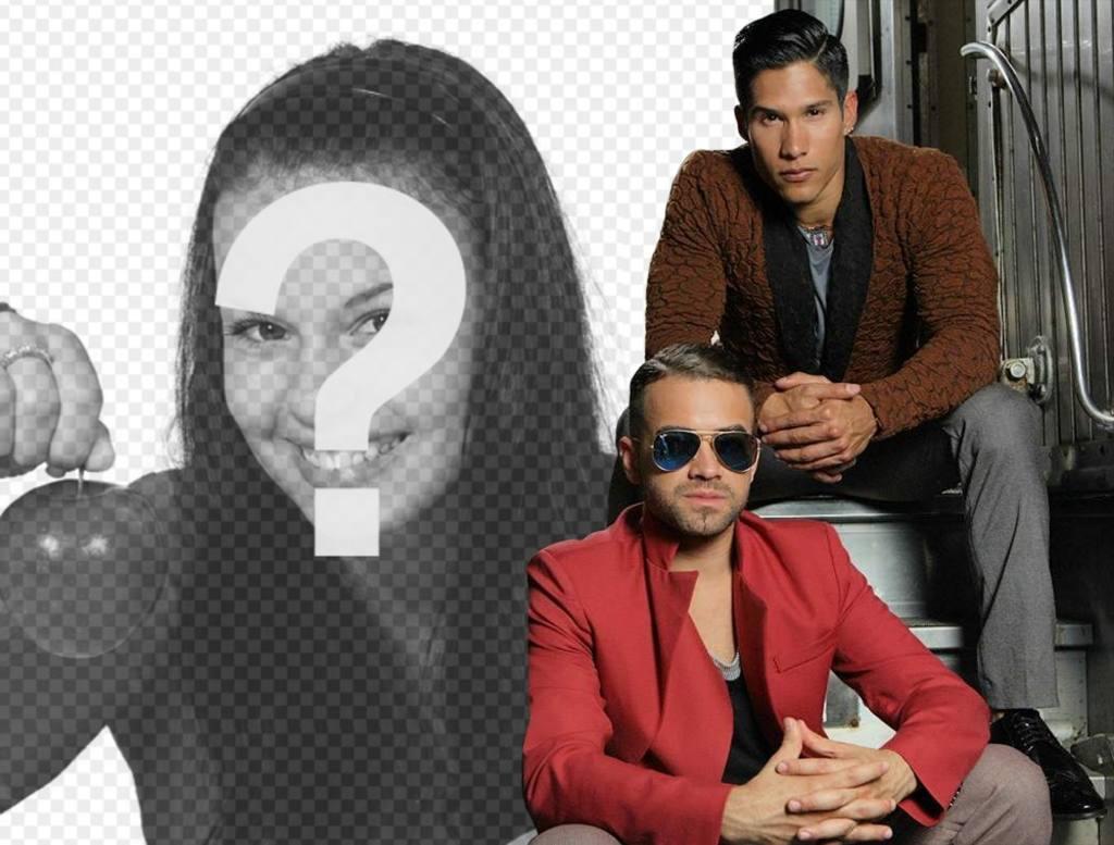 Online-Bildeffekt mit Sänger Chino und Nacho