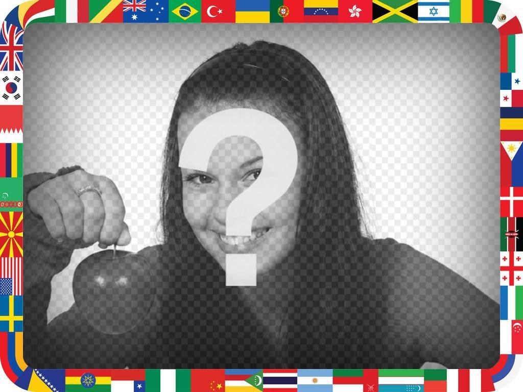 Fotorahmen mit Flaggen der Welt für Ihr Foto