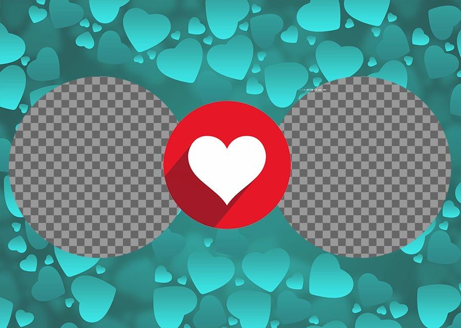 Photo-Effekt für zwei Fotos, Ihre Liebe auszudrücken