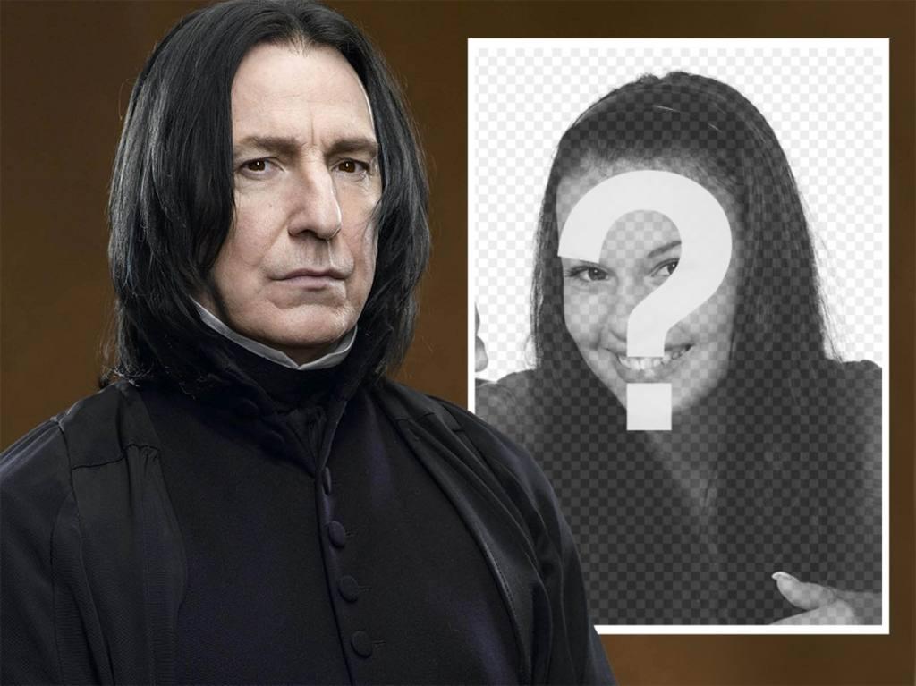 Photo-Effekt mit Snape von Harry Potter ein Bild hochladen