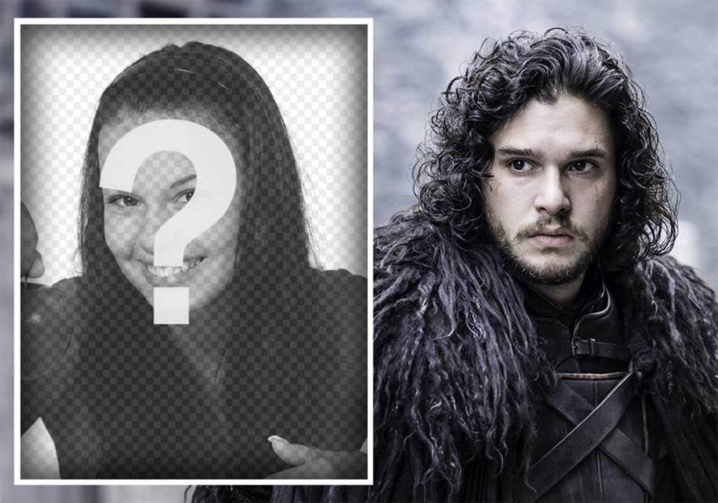 Photo-Effekt mit Jon Snow hochladen ein Foto