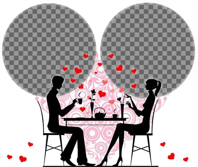Wenn Sie in der Liebe dann sind laden zwei Fotos zu diesem Zweck