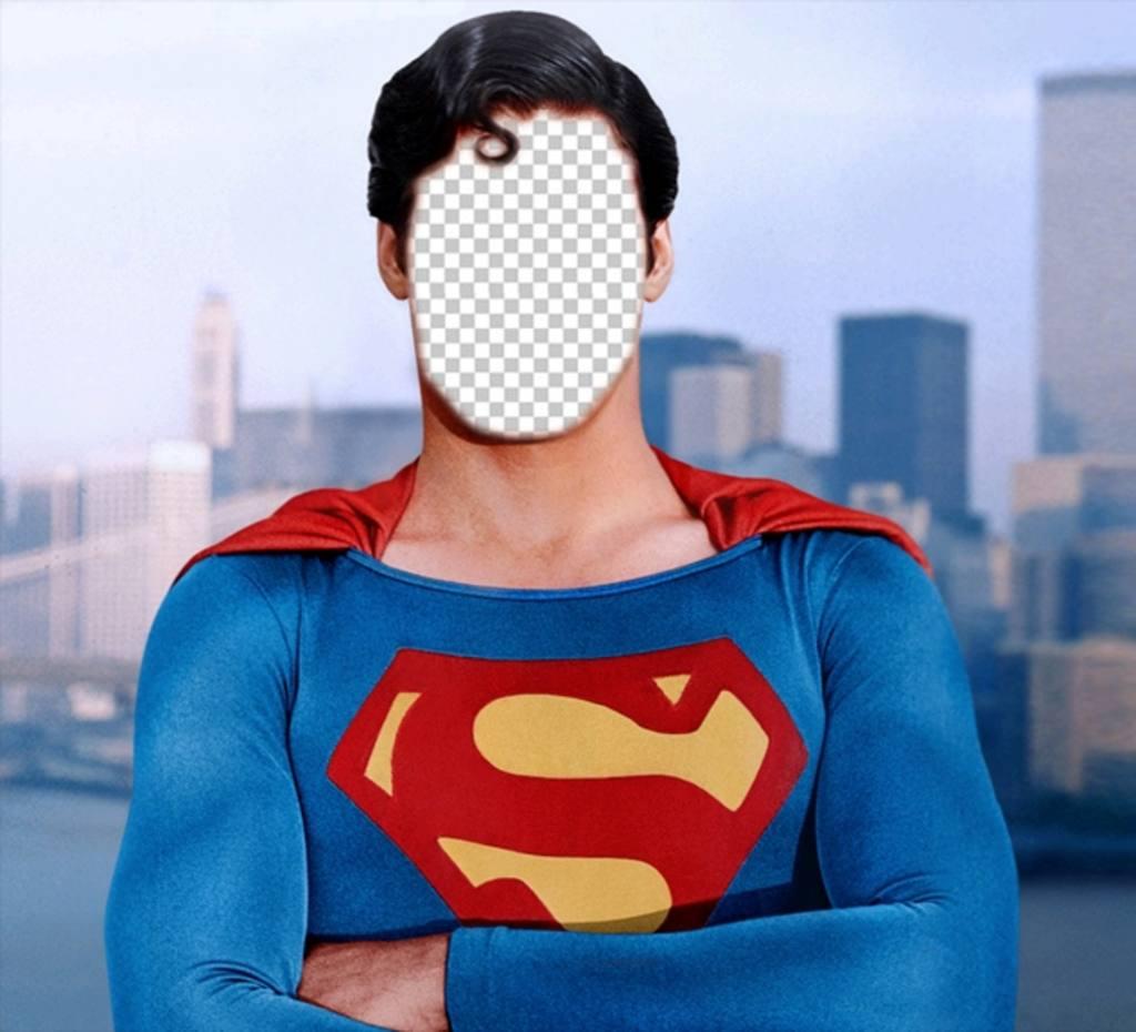 Fotomontage zu werden Superman mit dem Foto, das Sie dieses Online-Effekt mit jedem Bild