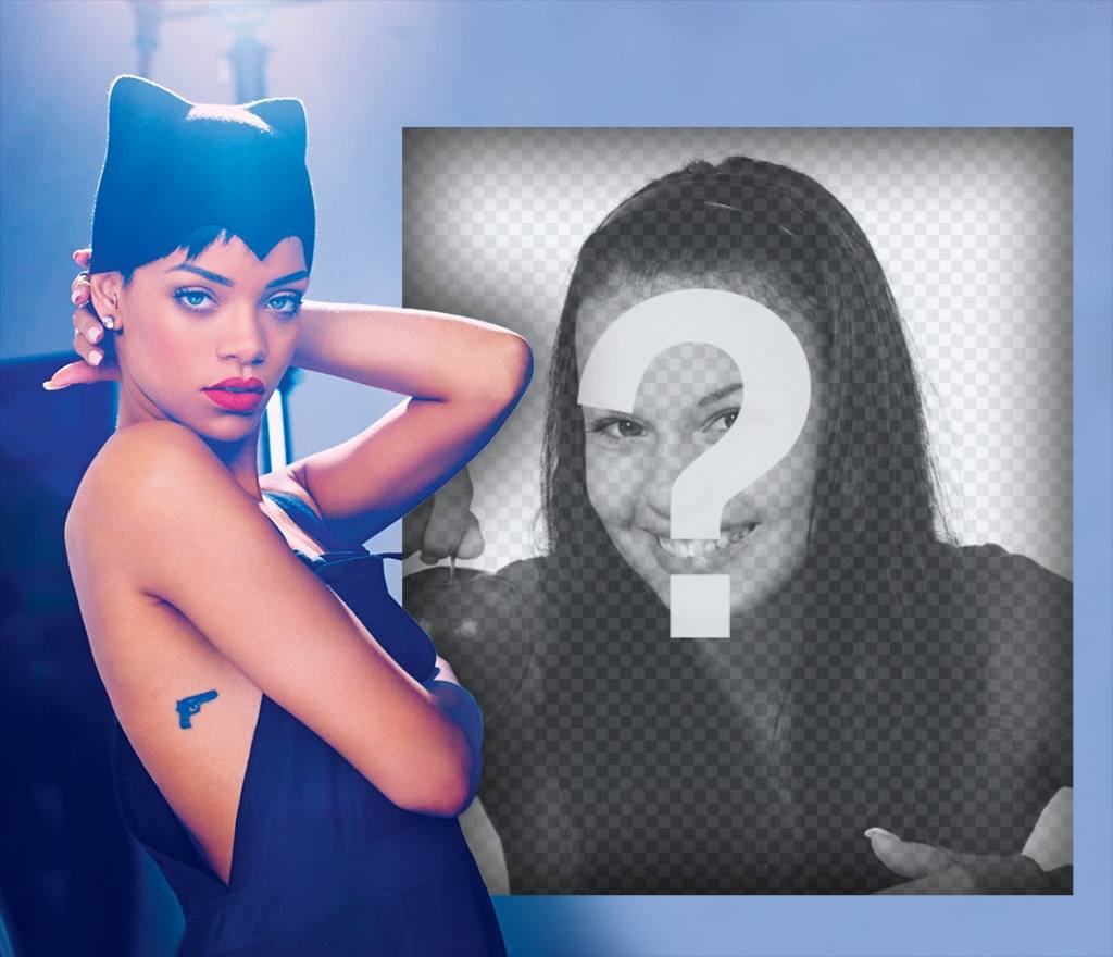 Rihanna als Kitten gekleidet, wo Sie Ihr Bild