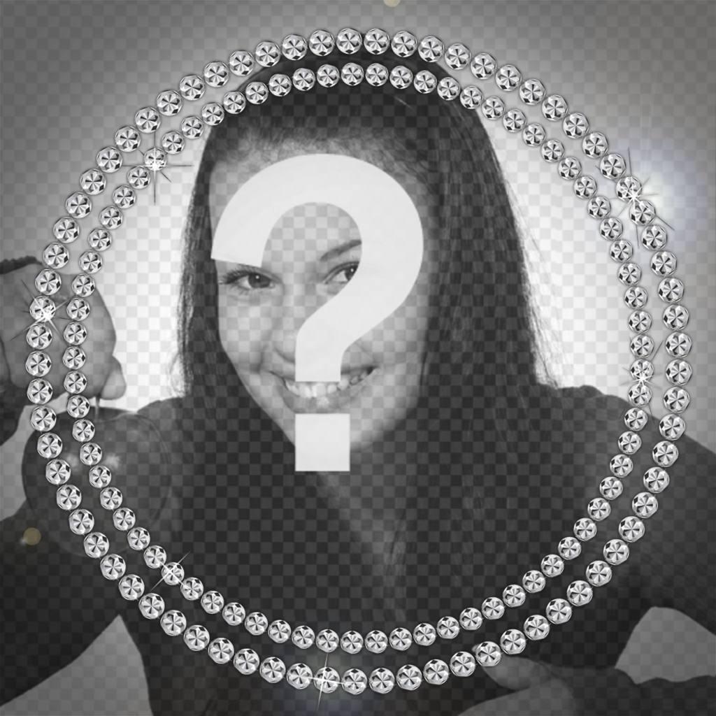 Funkelnde Diamant-Halskette Ihre Bilder